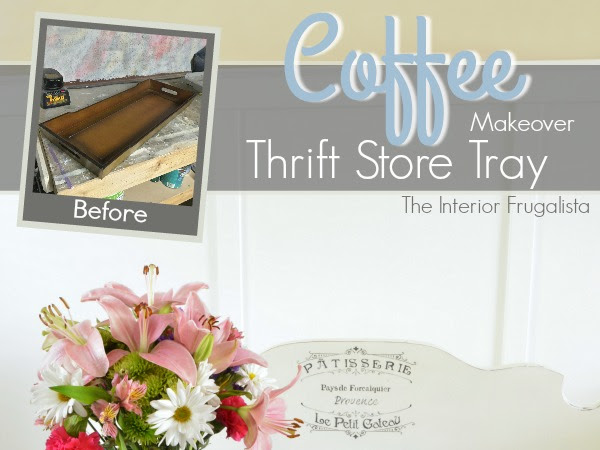 Large Thrift Store Tray Makeover Plus Candlesticks