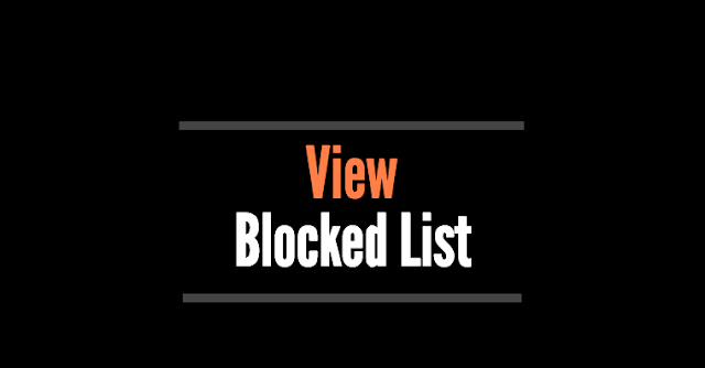 How do you see your blocked list on Facebook?