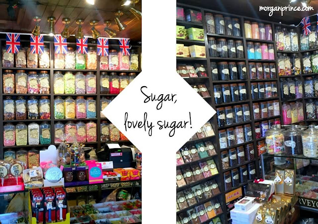 inside a sweet shop in stratford upon avon