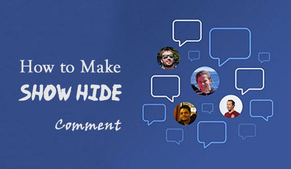 Menyembunyikan Komentar Blog Dengan Tombol Show Hide