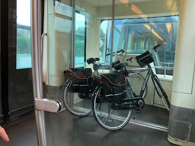 Bikes on a metro train from Rotterdam to Spijkenisse.