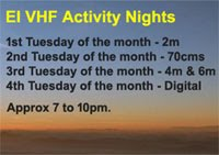 Proposal for EI VHF & UHF Activity Nights