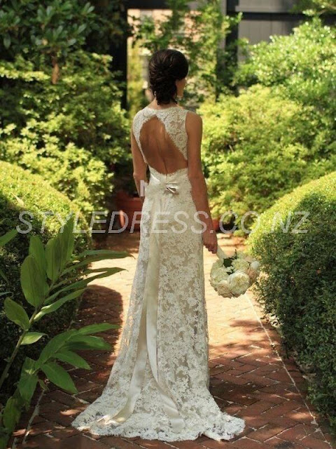 Casual V-Neck Cap Sleeve Lace Mermaid Wedding Dress (11342021)