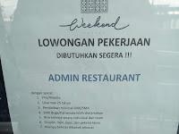 Lowongan kerja - Admin Restaurant
