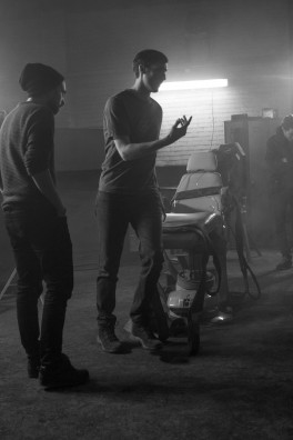 "Cal directing on set of ""Demented"""