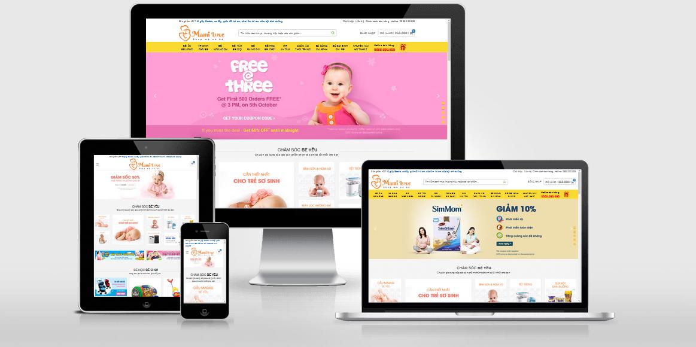 Theme WordPress cho shop mẹ và bé đã Việt Hóa