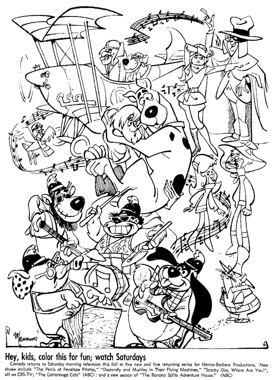 hanna barbera coloring pages - photo#1