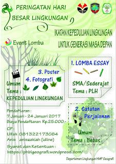 Lomba Menulis Esai - PHBL HMP Geografi Universitas Pendidikan Indonesia