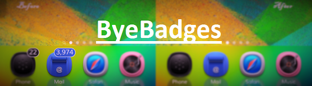 ByeBadges is a brand new jailbreak cydia tweak developed by the CydiaGeek which allows you to simply and completely hide all your apps badges just with one tap.