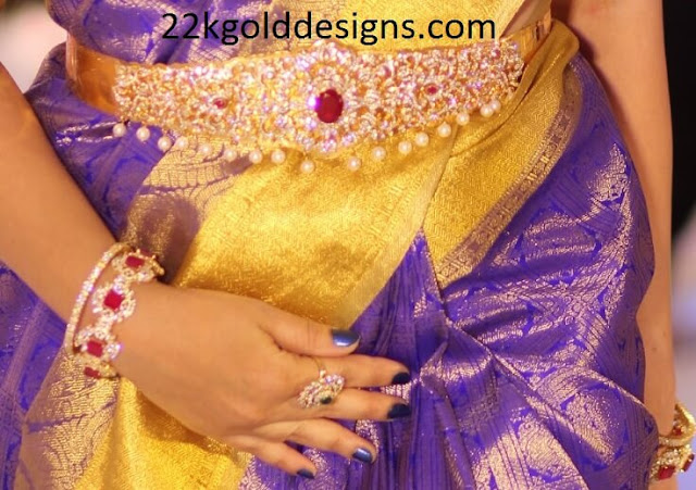Diamond Vaddanam and Bangles