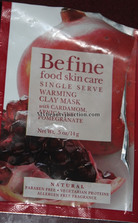 Befine Warming Clay Face Mask review, usage and results