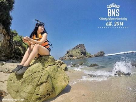 persiapan sebelum Snorkeling di Pantai Nglambor Gunung Kidul!
