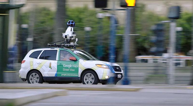 автомобиль Street View с датчиками загрязнения воздуха | Project Air View