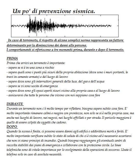 La veja prevenzione sismica cosa fare prima dopo e durante un terremoto - Cosa si intende per prima casa ...