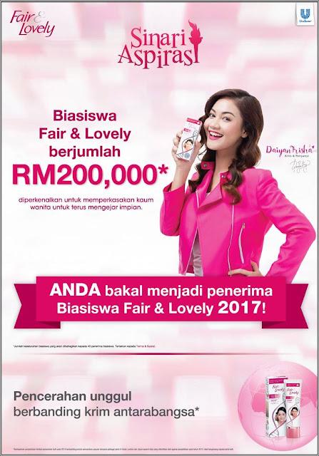 BIASISWA FAIR & LOVELY 2017 RM200,000