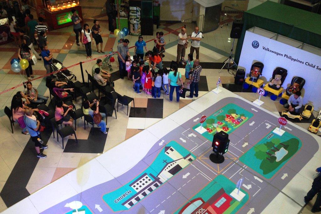 volkswagen philippines  kick  child safety campaign  cebu  october  philippine car