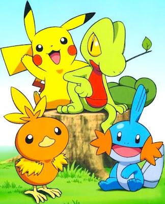 Dibujo de Pikachu acompañado de otros pokemones