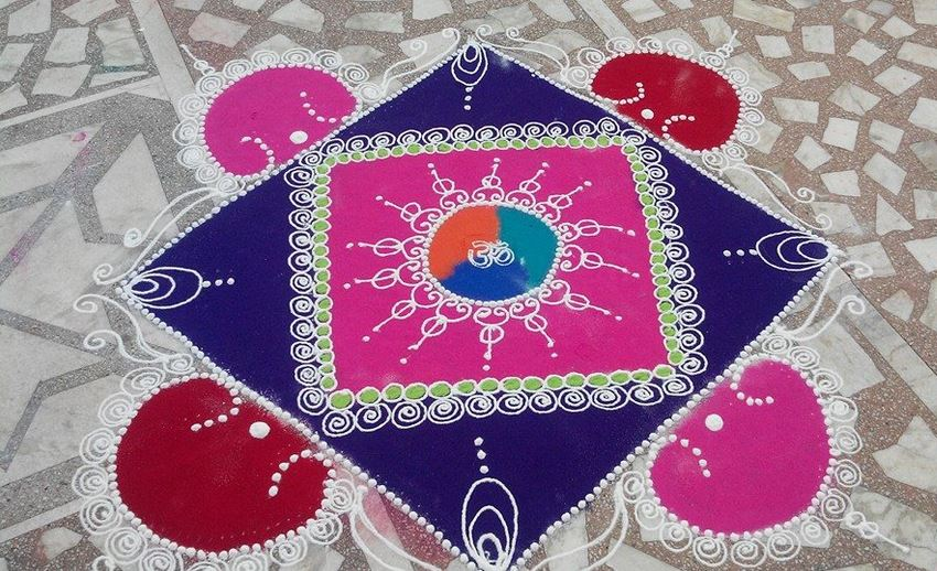 Latest Rangoli Design For Holi ! Art Magazine