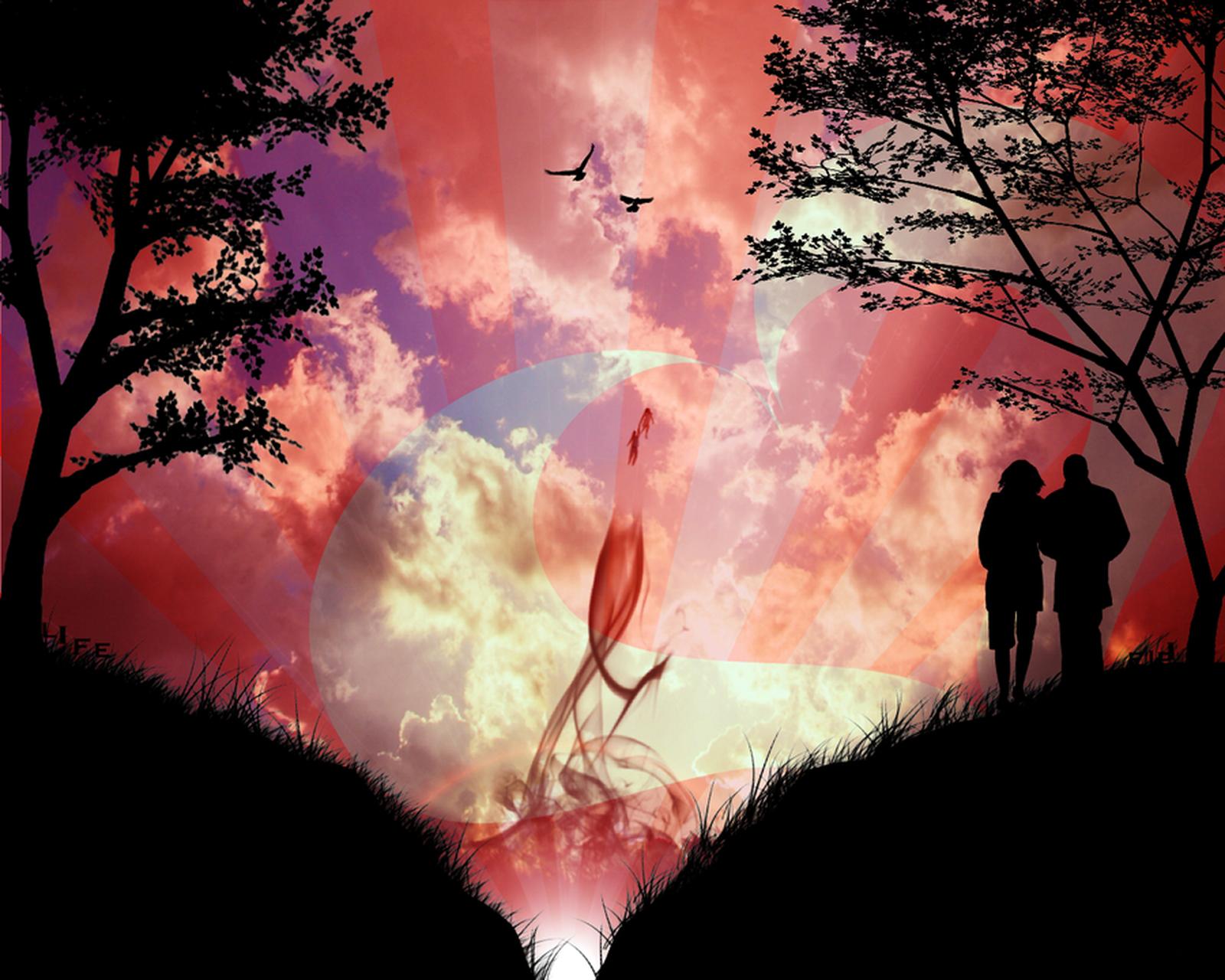 Красивая необычная картинка любви