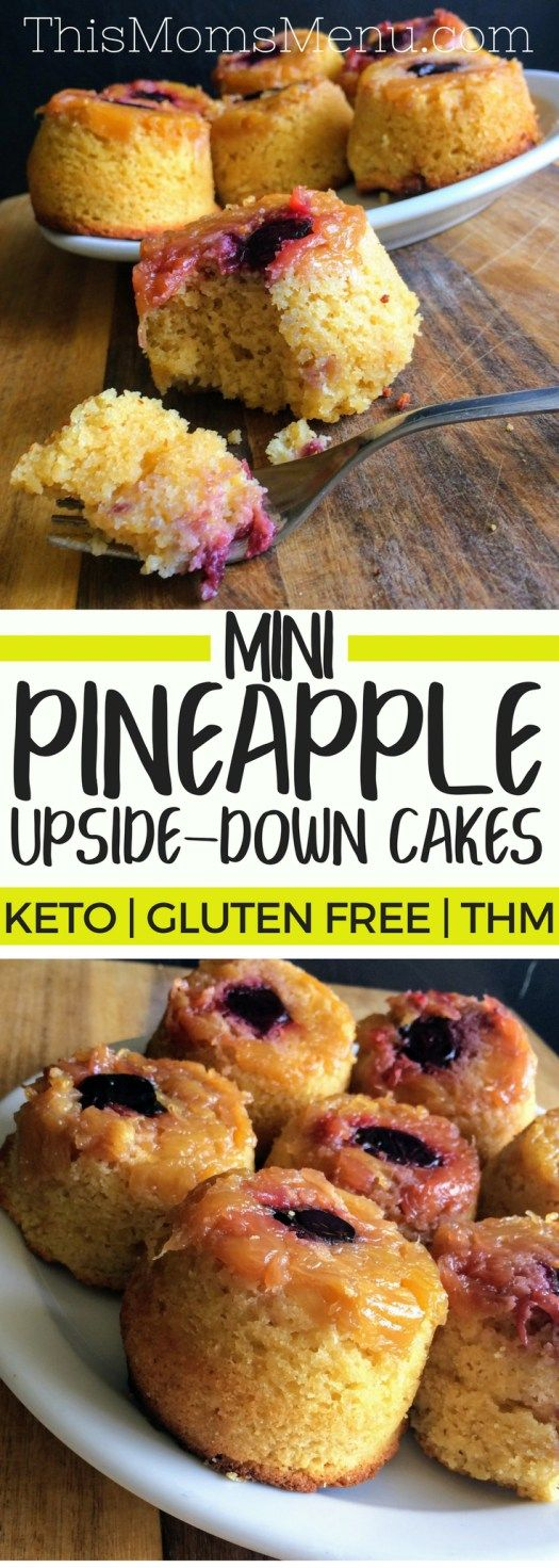 Pineapple Upside-Down Cupcakes | Keto