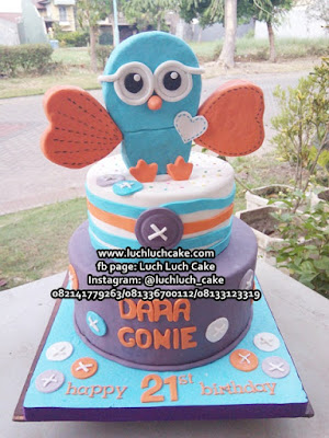Birthday Tart Cake Owl Cute
