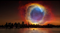 What it would look like if Helix Nebula were closer to the Earth?