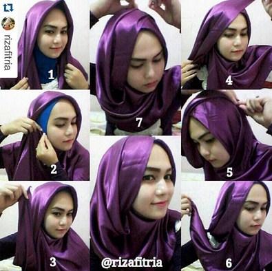 Tutorial Hijab Cara Memakai Jilbab Dan Hijab Terbaru Tutorial Hijab Bahan Satin Segi Empat