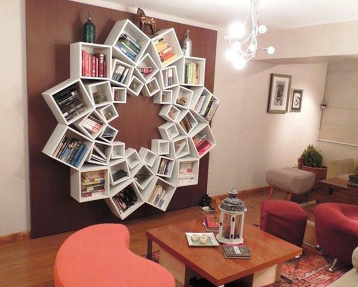 Desain Rak Buku Minimalis Nempel di Dinding Paling Keren ...