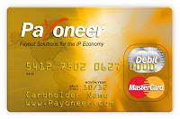 Tarjeta de debito Mastercard de payoneer