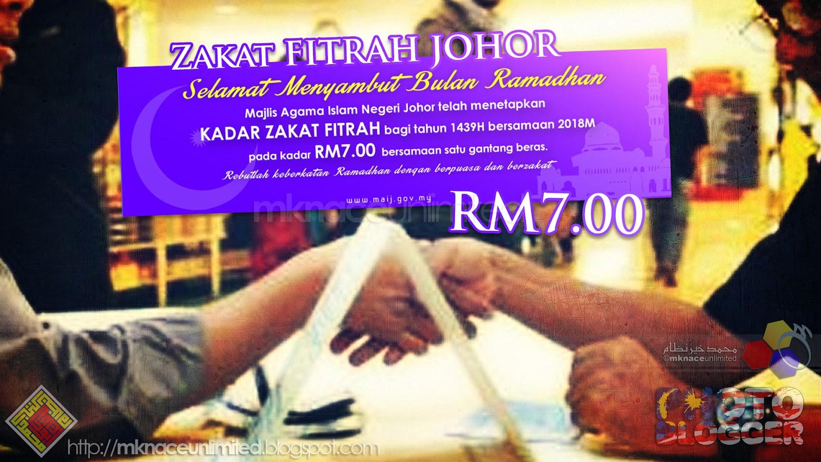 Umat Islam yang bermukim di Negeri Johor wajib menunaikan zakat fitrah di  Negeri Johor. Bayaran fitrah hendaklah dibayar kepada amil bertauliah dan  ... 75b51f1071