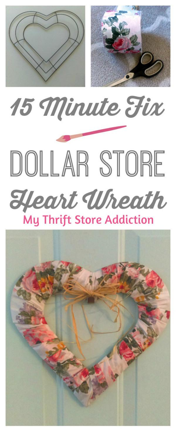 15 minute heart wreath