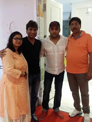 Raju Srivastava with Kapil Sharma at Mata Ki Chauki in Kapil's New House