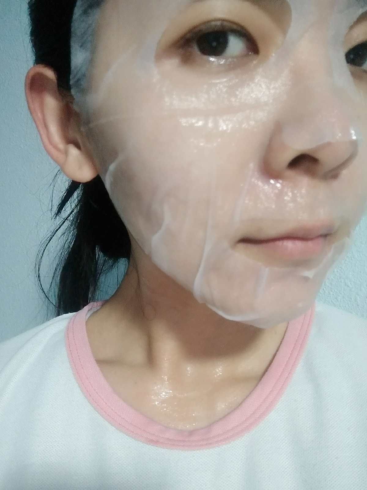 The mask sheet is of an extremely soft and smooth texture that sticks over my face like a second skin, while the essence that's soaked up in the sheet is of ...