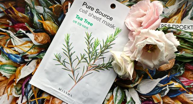 Missha Pure Source Cell Sheet Mask Tea Tree Тканевая маска для лица с очищающим и освежающим эффектом