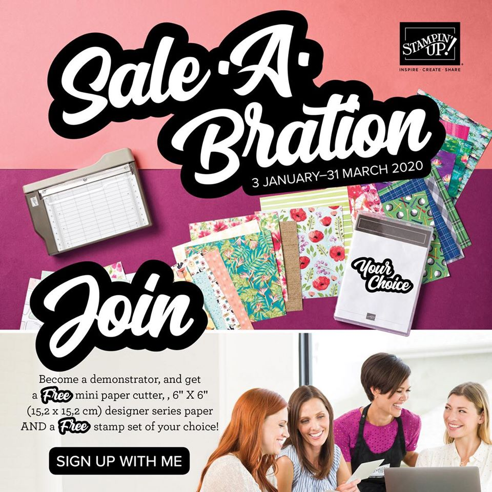Join Stampin' Up! During Sale-A-Bration