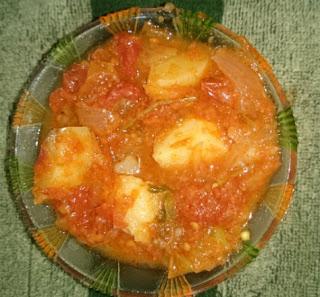 tomato potato curry
