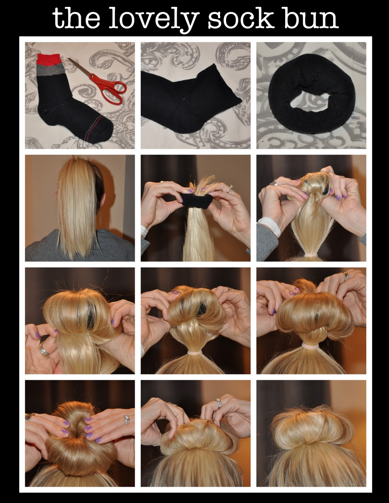 Being Lovely The Perfect Sock Bun