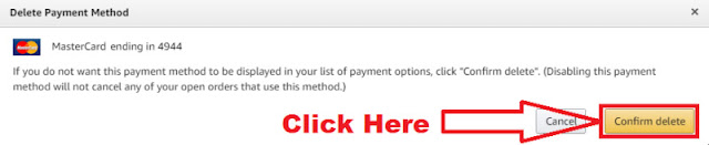 how to delete debit card details from amazon