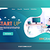 Download Template Landing Page Vector