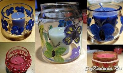 oje ile cam bardak boyama örnekleri