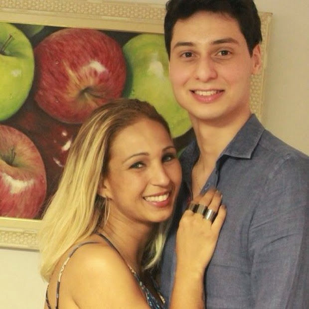 Valesca popozuda and her boyfriend, David Diogenes