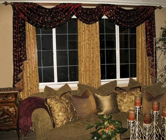 Style Provence Living Room Curtain Designs