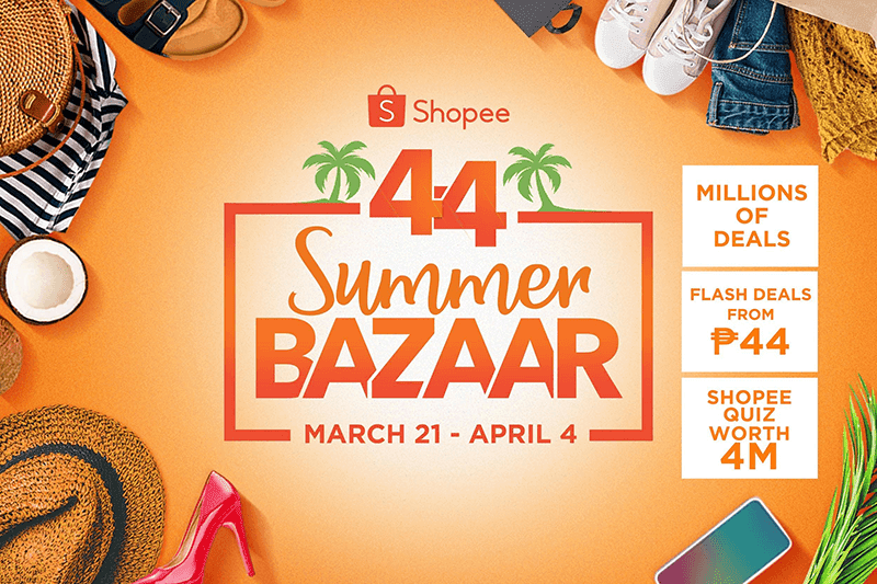 Shopee announces 4.4 Summer Bazaar promo with a chance to win a trip to El Nido