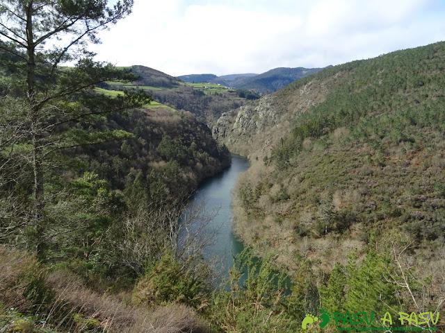 Aguas oscuras del Río Navia