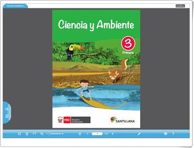 """""""Libro digital de Ciencias Naturales de 3º Primaria"""" (Editorial Santillana Perú)"""