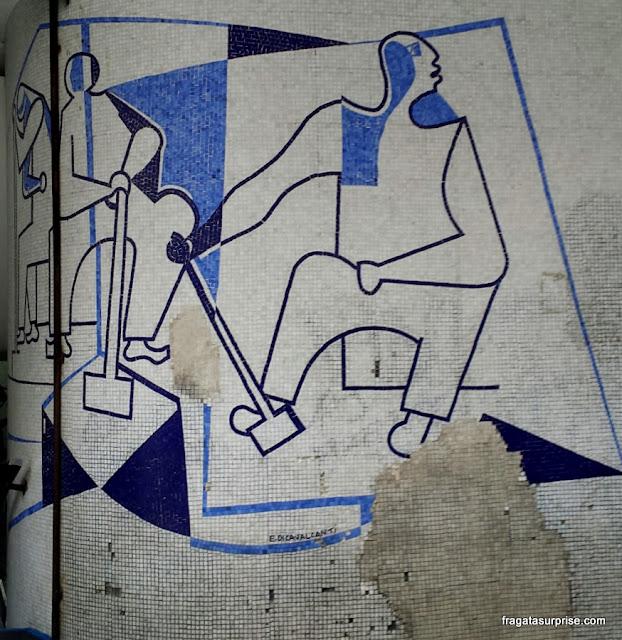 Painel de Di Cavalcanti no Edifício Triângulo, Centrão de São Paulo