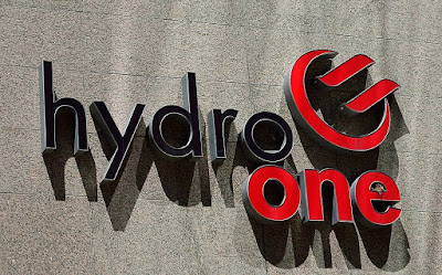 The logo on the HydroOne building (head office) in Toronto, Ont.