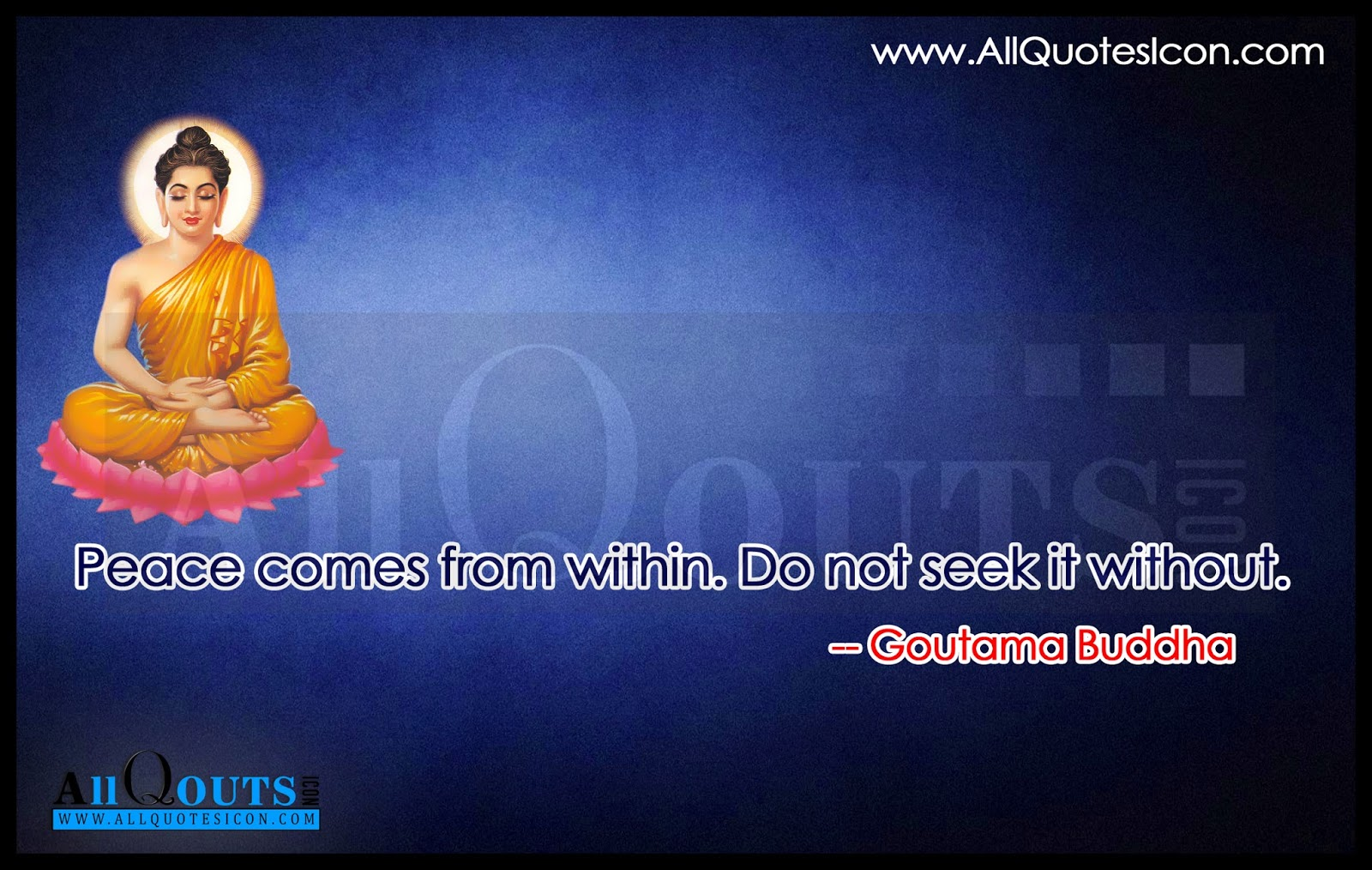 Gautama Buddha Quotes In English Hd Wallpapers Peace Comes From