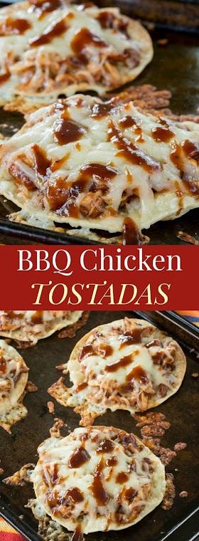 BBQ CHICKEN TOSTADAS