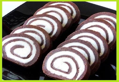 चॉकलेट स्विस रोल बनाने की विधि - Swiss Roll Recipe